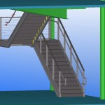prefab metal stair 3d model
