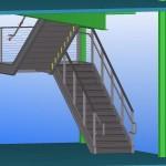 prefab metal stair 3d model