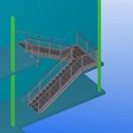 prefabricated steel stair 3d model