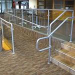 Aluminum Rail With Glass Pannels