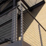 Exterior Steel Rail With Cable Guard Rail