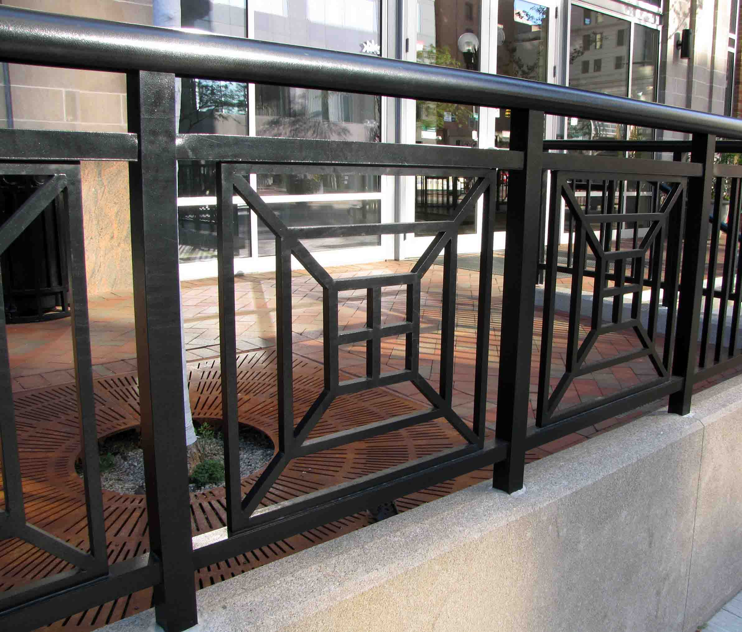 Decorative Perforated Metal Modern Stair Railing