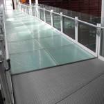 Glass Panel Guard Rails With Aluminum Hand Rails