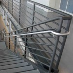 Stainless Steel Hand Rails With Seven Line Steel Guard Rail