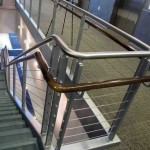 Stainless Steel Rail with Cable Guard and Wooden Hand Rail