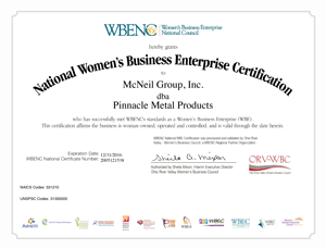 WBE-Certificate